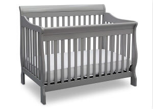 Delta Children Canton 4- in-1 Convertible Crib, Grey