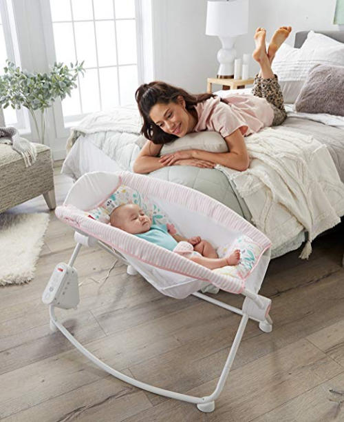 Fisher-Price Auto Rock n Play Sleeper, Pink