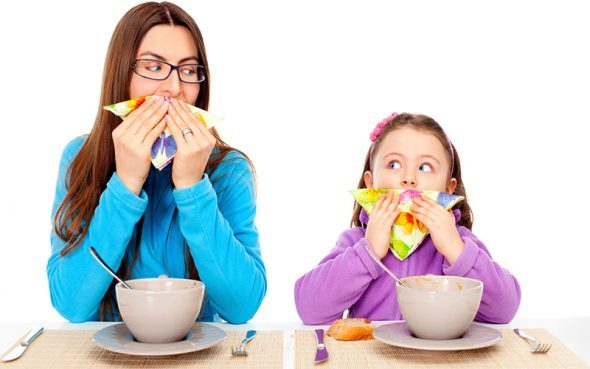 How to teach children table manners if he is throwing tableware